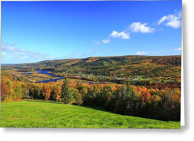 Canada, Nova Scotia, Cape Breton, Cabot Greeting Card by Patrick J. Wall