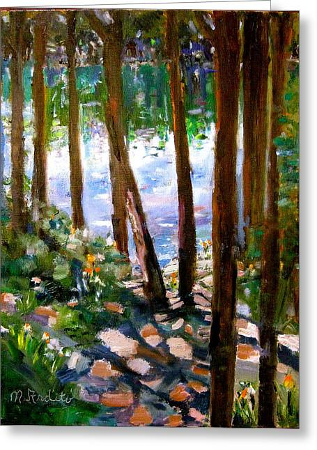 Canadian Reflections Greeting Card by MaryAnne Ardito
