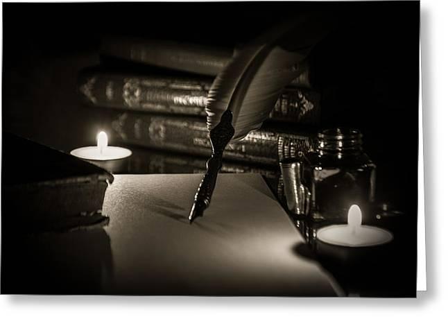 Candlelight Fantasia Greeting Card by Andrea Mazzocchetti
