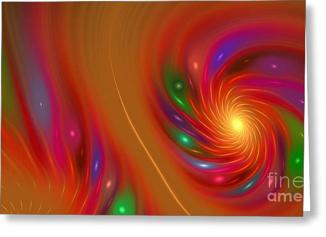 Greeting Card featuring the digital art Candy Nebula by Hanza Turgul