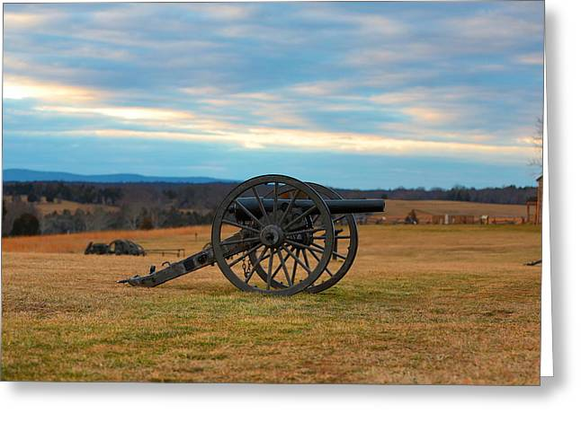 Cannons Of Manassas Battlefield Greeting Card