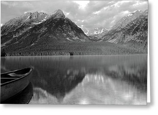 Canoe Leigh Lake Grand Teton National Greeting Card