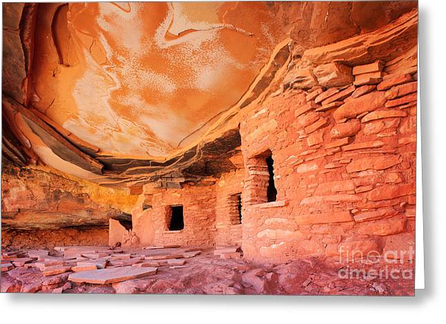 Canyon Ruins Greeting Card by Inge Johnsson