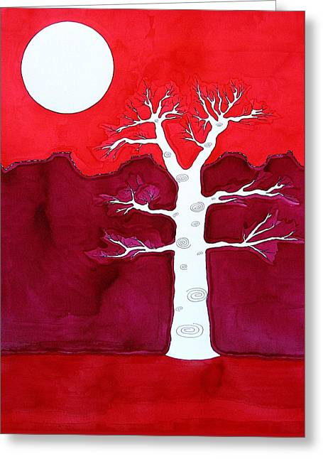 Canyon Tree Original Painting Greeting Card