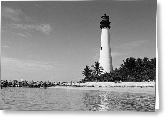Cape Florida Lighthouse Greeting Card by William Wetmore