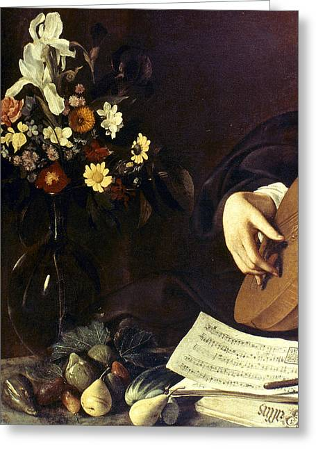 Caravaggio Luteplayer Greeting Card by Granger