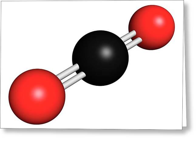 Carbon Dioxide Molecule Greeting Card by Molekuul