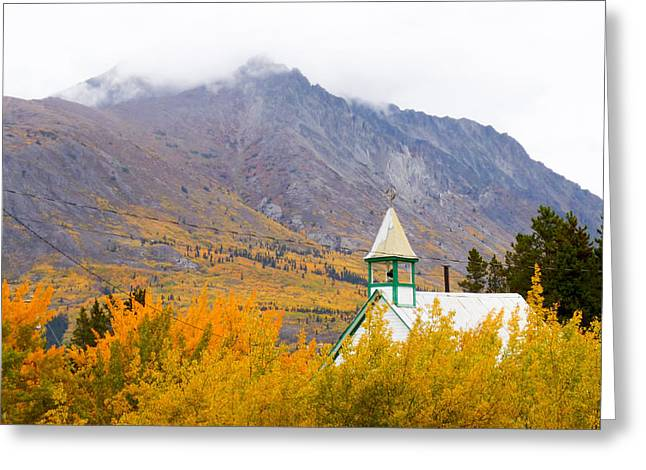 Carcross Church Greeting Card by David Nichols