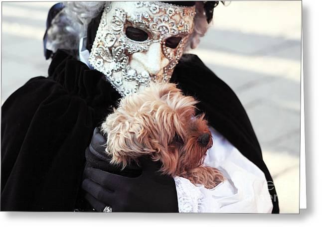 Carnival Dog Greeting Card by John Rizzuto