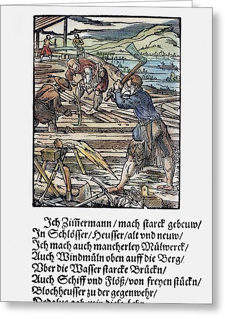 Carpenters, 1568 Greeting Card by Granger