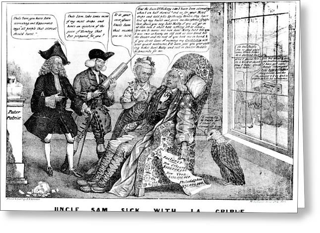 Cartoon: Panic Of 1837 Greeting Card by Granger