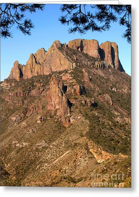 Casa Grande Mountain, Big Bend, Texas Greeting Card