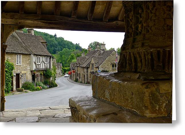 Castle Combe Picture Framed Greeting Card by Denise Mazzocco