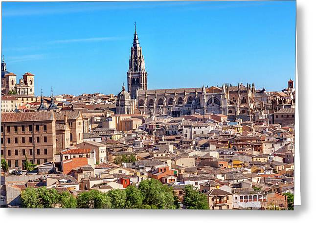 Cathedral, Medieval City, Toledo, Spain Greeting Card