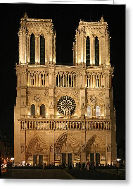 Cathedral Of Notre Dam Greeting Card by Gary Lobdell