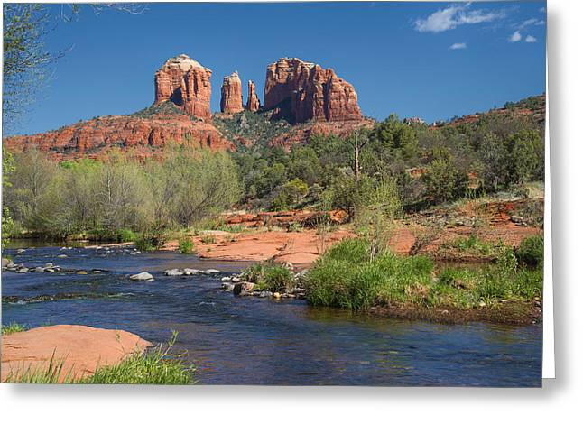 Cathedral Rock Viewed From Red Rock Crossing Greeting Card