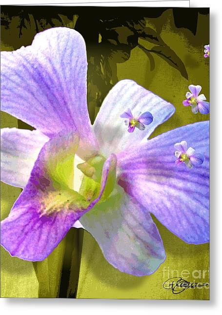 Cattleya Triage Dafoi Art 3 Of 3 Greeting Card