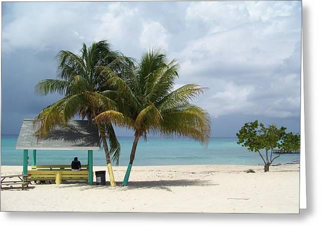 Cayman Beach Greeting Card by Robert Teeling