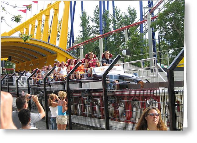 Cedar Point - Top Thrill Dragster - 12121 Greeting Card