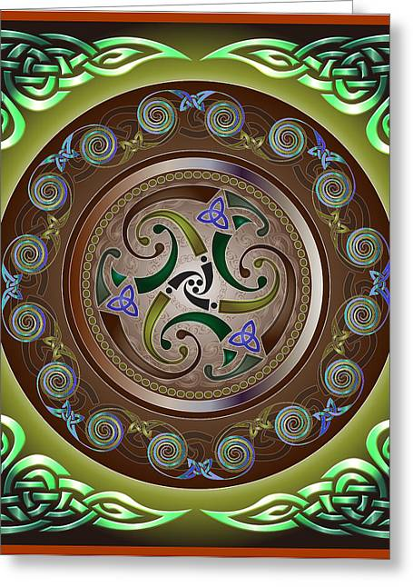 Celtic Pattern Greeting Card by Ireland Calling