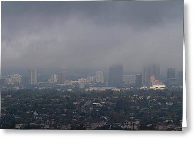 Century City, Wilshire Corridor, Los Greeting Card by Panoramic Images