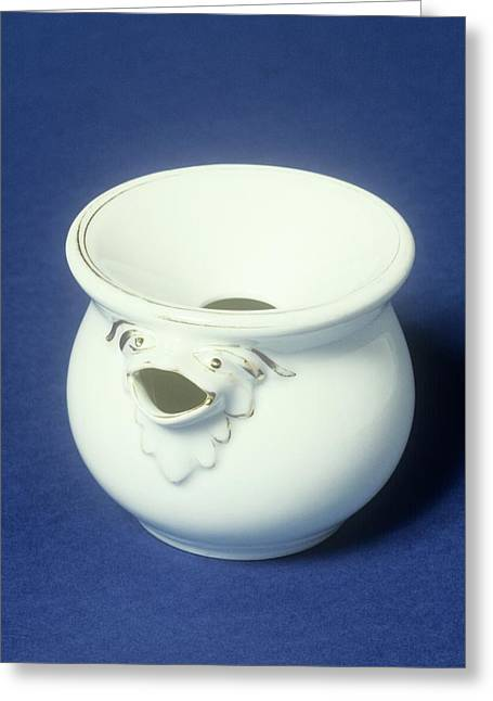 Ceramic Spittoon Greeting Card by Science Photo Library