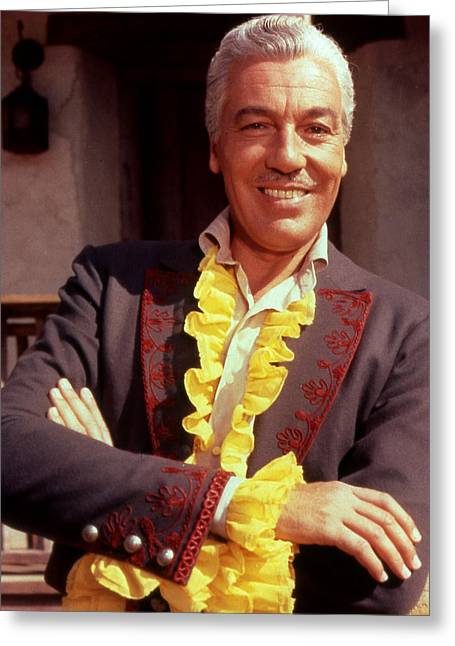 Cesar Romero Greeting Card by Silver Screen