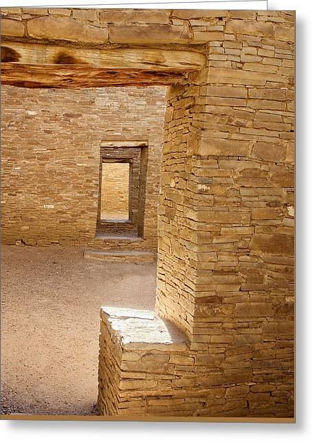 Chaco Canyon Greeting Card by Steven Ralser