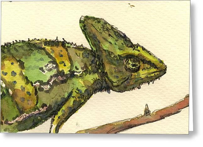 Chameleon Greeting Card