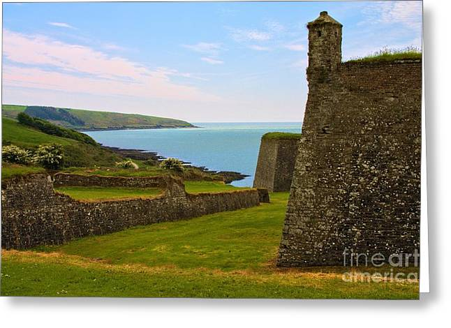 Greeting Card featuring the photograph Charles Fort Kinsale by Jeremy Hayden
