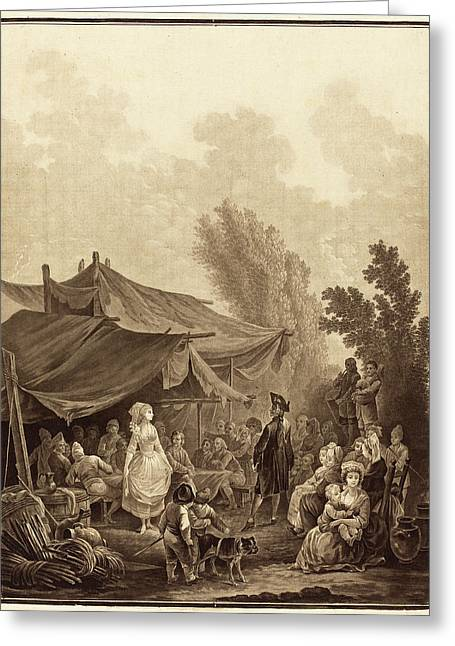 Charles-melchior Descourtis After Nicolas Antoine Taunay Greeting Card