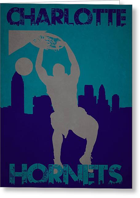 Charlotte Hornets Greeting Card by Joe Hamilton