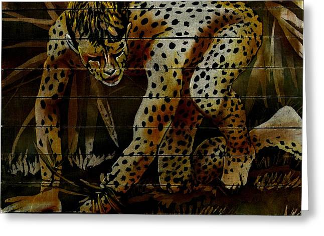 Cheetah Greeting Card by Robert D McBain