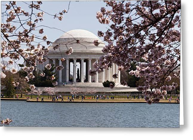 Cherry Blossom Trees In The Tidal Basin Greeting Card