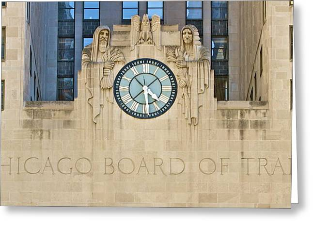 Chicago Board Of Trade Greeting Card by John Babis
