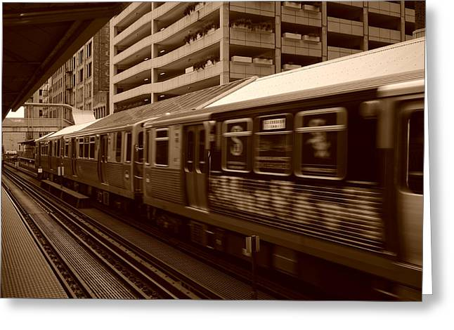 Chicago Cta Greeting Card by Miguel Winterpacht