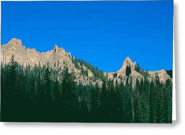 Chimney Peak In Uncompahgre National Greeting Card by Panoramic Images