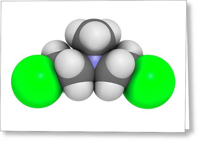 Chlormethine Cancer Chemotherapy Drug Greeting Card by Molekuul