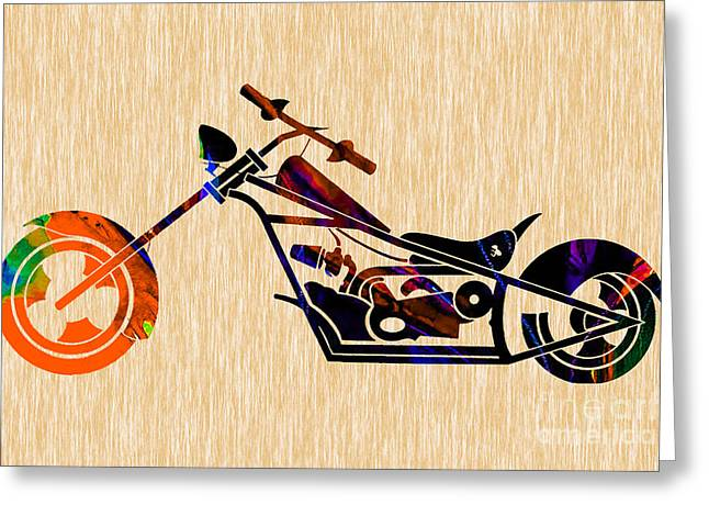 Chopper Painting Greeting Card