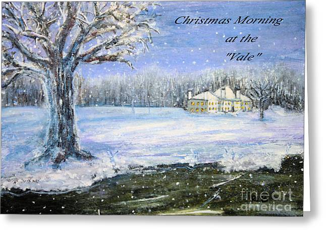 Christmas At The Vale Greeting Card by Rita Brown