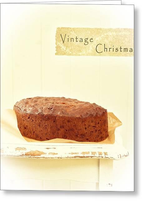 Christmas Cake Greeting Card by Amanda Elwell