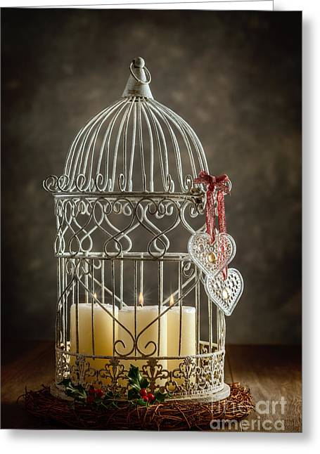 Christmas Candles Greeting Card by Amanda Elwell