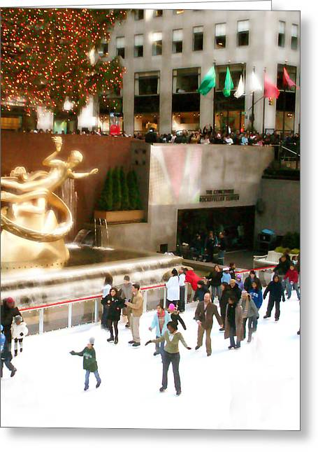 Greeting Card featuring the photograph Christmas In New York by Raymond Earley