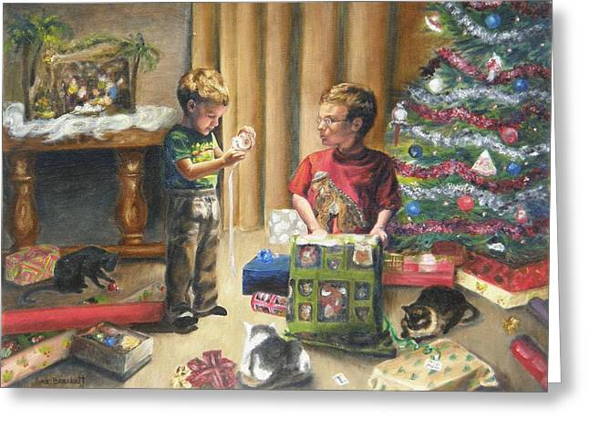 Greeting Card featuring the painting Christmas Time by Lori Brackett