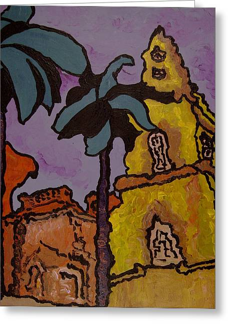 Church In The Desert  Greeting Card by Oscar Penalber