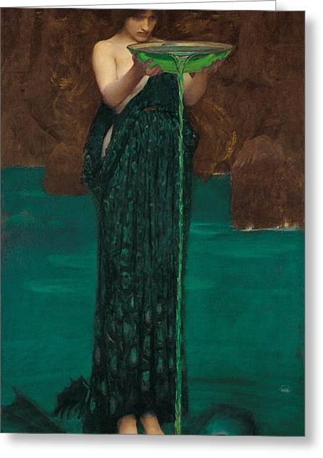Circe Invidiosa Greeting Card by John William Waterhouse