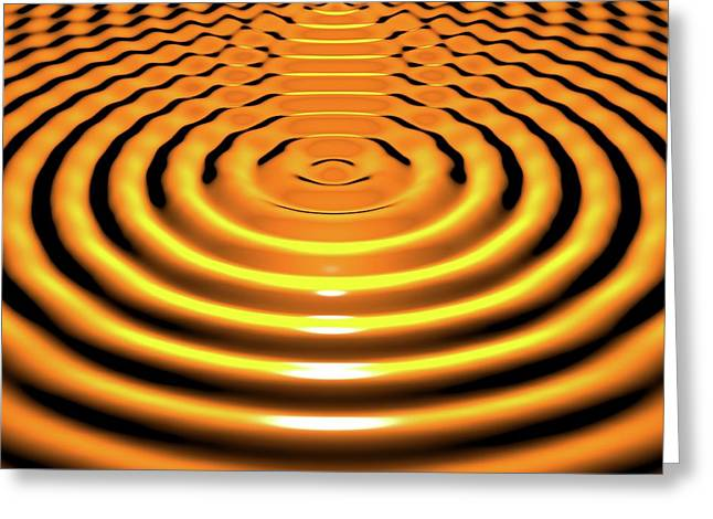 Circular Wave Interference Greeting Card by Russell Kightley