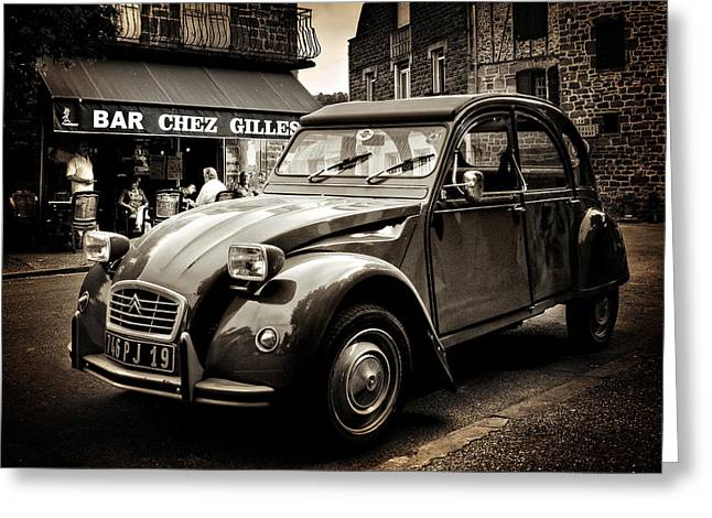 Citroen 2cv / Meyssac Greeting Card