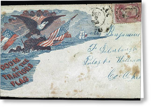Civil War Letter, C1863 Greeting Card by Granger