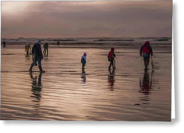 Clam Tide Greeting Card by Nichon Thorstrom